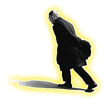 Sartre Walking Photographic Print