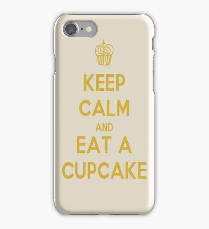 Keep Calm And Eat A Cupcake iPhone Case/Skin