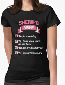 SHERIFF'S WIFE Womens Fitted T-Shirt