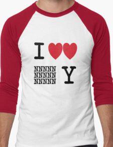 I Heart New New York (Black) Men's Baseball ¾ T-Shirt