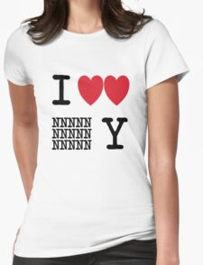 I Heart New New York (Black) Womens Fitted T-Shirt