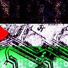 circuit board gaza strip (flag) by sebmcnulty