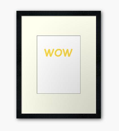 Dogecoin WOW! Gold Text Framed Print