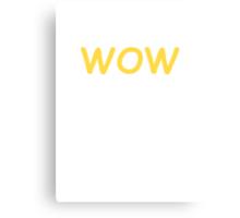 Dogecoin WOW! Gold Text Canvas Print
