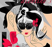 Chic Valentines by Artist Carolina Sherwani by Carolina Sherwani