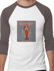 lobster lover Men's Baseball ¾ T-Shirt