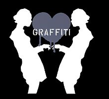 Graffiti Love Black Background by tiffanydow