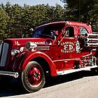 vintage fire truck in parade. by KSKphotography