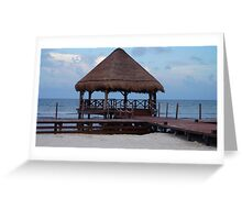Tropical Hut Greeting Card