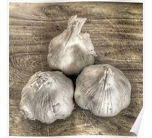 Three Bulbs of Garlic Poster
