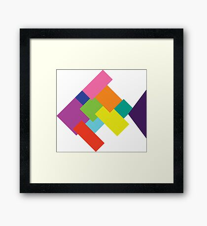 New Fish On the Block Framed Print