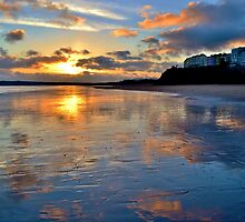 Sunset in Tenby by Paula J James