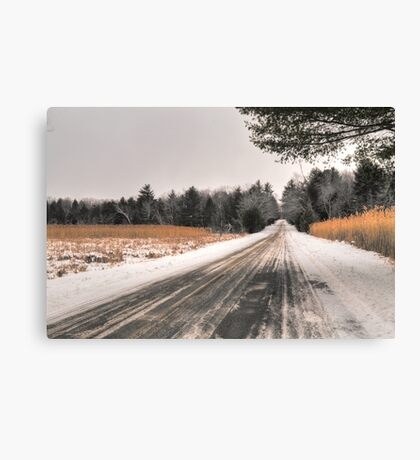 Cold Spring Road in Winter Canvas Print