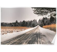 Cold Spring Road in Winter Poster