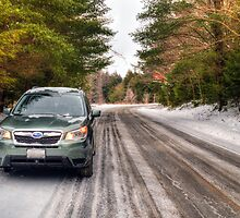 2014 Subaru Forester in Winter by Geoffrey Coelho