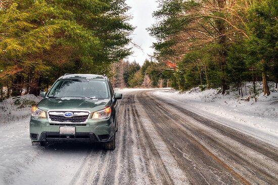 2014 Subaru Forester in Winter by Geoffrey Coelho