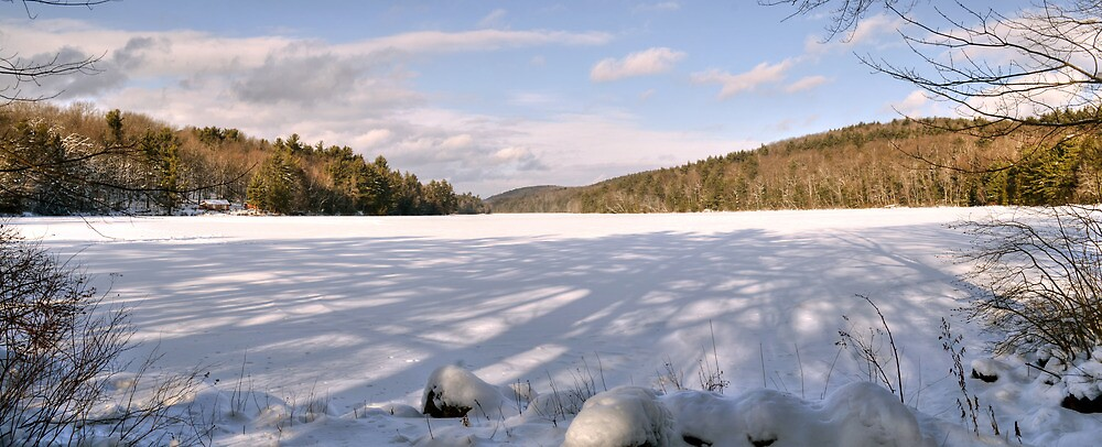 Afternoon Shadows at Spectacle Pond by Geoffrey Coelho