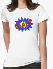 Comic Gay Womens Fitted T-Shirt