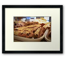 Chocolate Chip Biscotti Framed Print