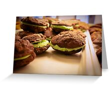 Mint Chocolate Chip Cookies Greeting Card
