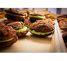 Mint Chocolate Chip Cookies Photographic Print