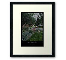 Suzie's Garden Framed Print