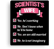 SCIENTIST'S WIFE Canvas Print