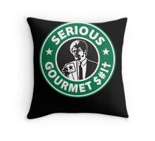Some Serious Gourmet Coffee (clean) Throw Pillow