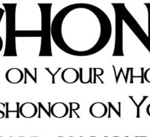 Dishonor Sticker