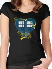 Be my Valentimey-wimey? Women's Fitted Scoop T-Shirt