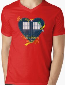 Be my Valentimey-wimey? Mens V-Neck T-Shirt