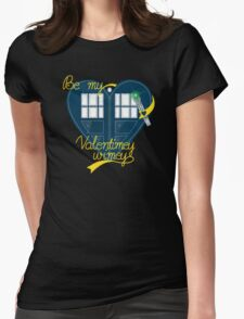 Be my Valentimey-wimey? Womens Fitted T-Shirt