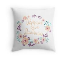 Uteruses before Duderuses Throw Pillow