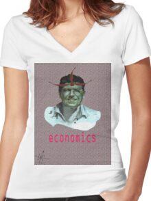 [economics] Women's Fitted V-Neck T-Shirt