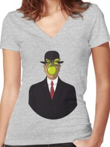 The Son of Man Women's Fitted V-Neck T-Shirt
