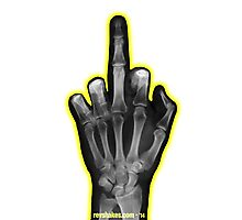 Middle Finger X-Ray - 2 Photographic Print