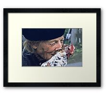 Portraits : BEST Marie, kindness au Naturel,  version 11 color  collector  1977  11  (c)(h) by Olao-Olavia / Okaio Créations Framed Print