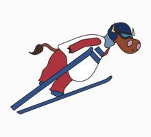 Ski Jump Cow by uddertees