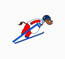 Ski Jump Cow Unisex T-Shirt