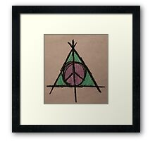 My Original Deathly Hallows and Peace Symbol Framed Print