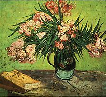 Still life - Vase with Oleanders and a Book, Van Gogh by naturematters