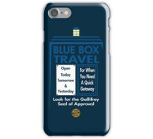 Blue Box Travel iPhone Case/Skin