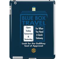 Blue Box Travel iPad Case/Skin