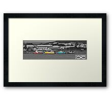 Coloured Boats Framed Print