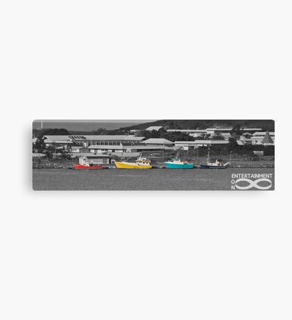 Coloured Boats Canvas Print