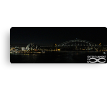 Sydney Icons at night. Canvas Print