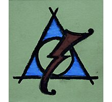 Green, Blue and Red Deathly Hallows Scar Photographic Print
