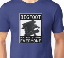 Bigfoot Rated 'E' For Everyone  Unisex T-Shirt