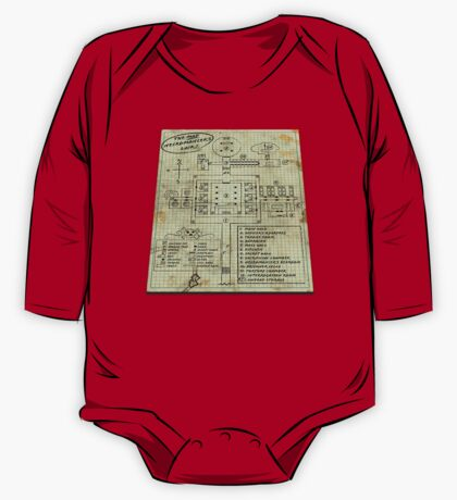 Dungeon Scrawl (Large Print) One Piece - Long Sleeve