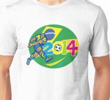 Brazil 2014 Soccer Football Player Retro Unisex T-Shirt